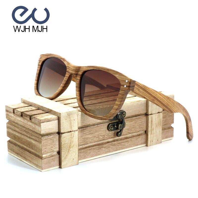 3cab992834 Vintage Zebra madera polarizada piloto Sol Gafas hombres mujeres de lujo  hecho a mano Gafas con madera y bambú Caja de Regalos nuevo estilo en Gafas  de sol ...