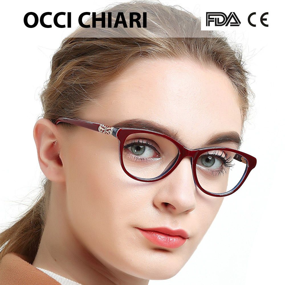 Image 3 - OCCI CHIARI High Quality Acetate Glasses Men Retro Vintage Prescription Glasses Women Optical Spectacle Frame Round OC7205Womens Eyewear Frames   -