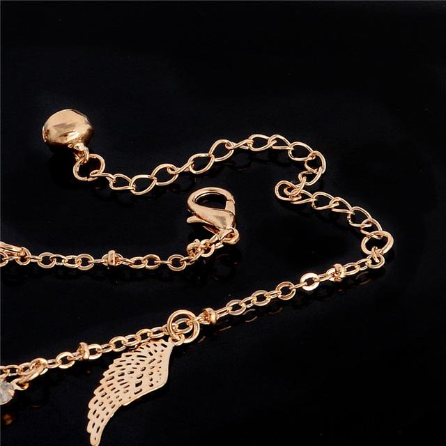 Luxury Gold Color Women's Bracelet Crystal Anklets