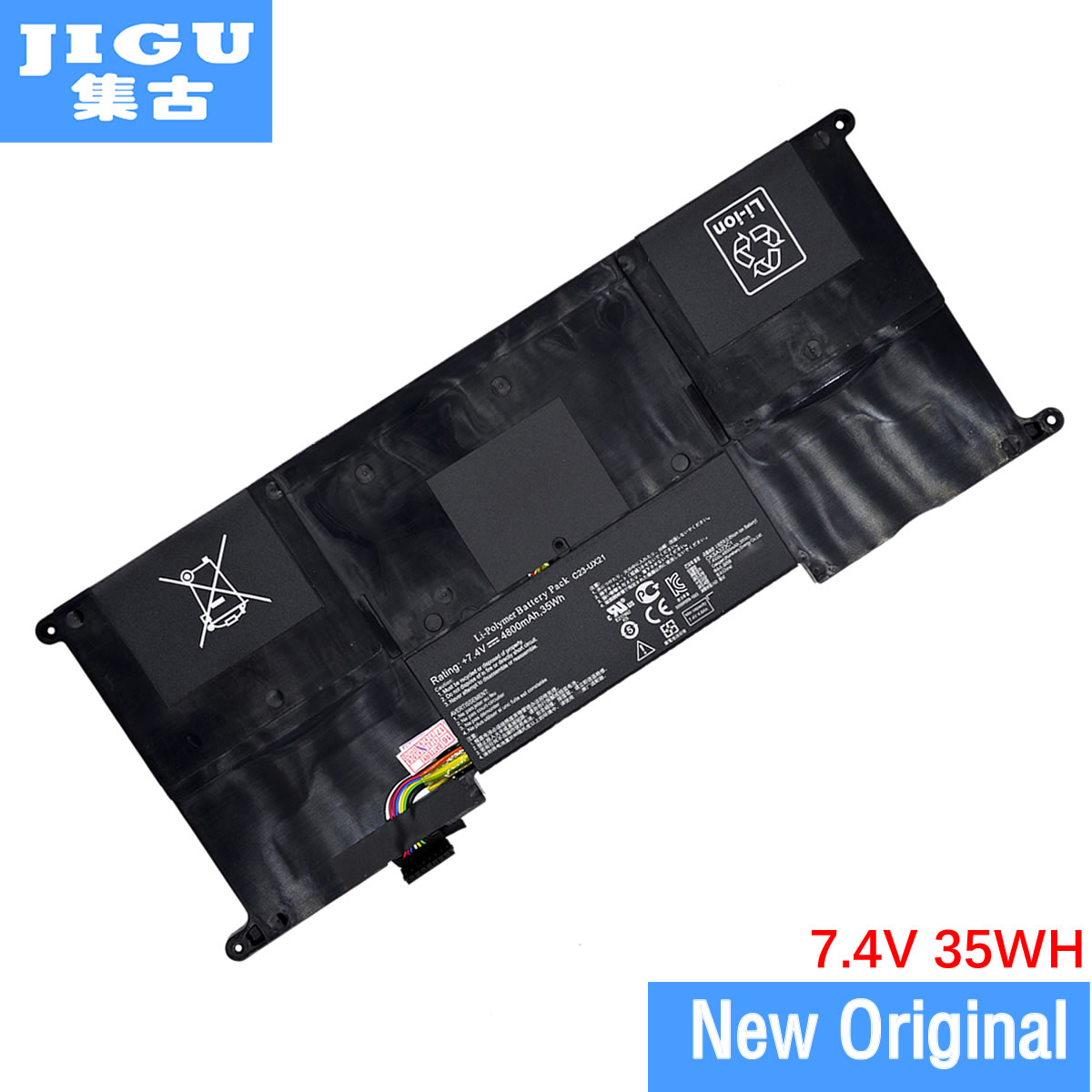 JIGU C23-UX21 C22-UX21 Original laptop Battery For Asus Ultrabook for ZENBOOK UX21 UX21A UX21E 7.4V 4800MAH 35WH free shipping new 50wh genuine c32n1305 battery for asus zenbook infinity ux301la ultrabook laptop