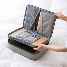 ทนทานBook A4 Double Layer BriefcasesธุรกิจเอกสารTote Multi Functionalผู้ชายแล็ปท็อปโน้ตบุ๊คปากกาคอมพิวเตอร์กระเป๋า