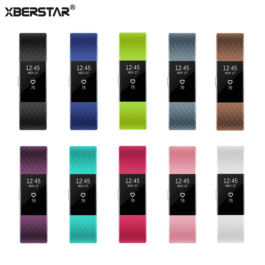 XBERSTAR Silicone Sports Wrist Band Strap for Fitbit Charge 2 Heart Rate Activity Tracker mld lf 1107 sports wrist support