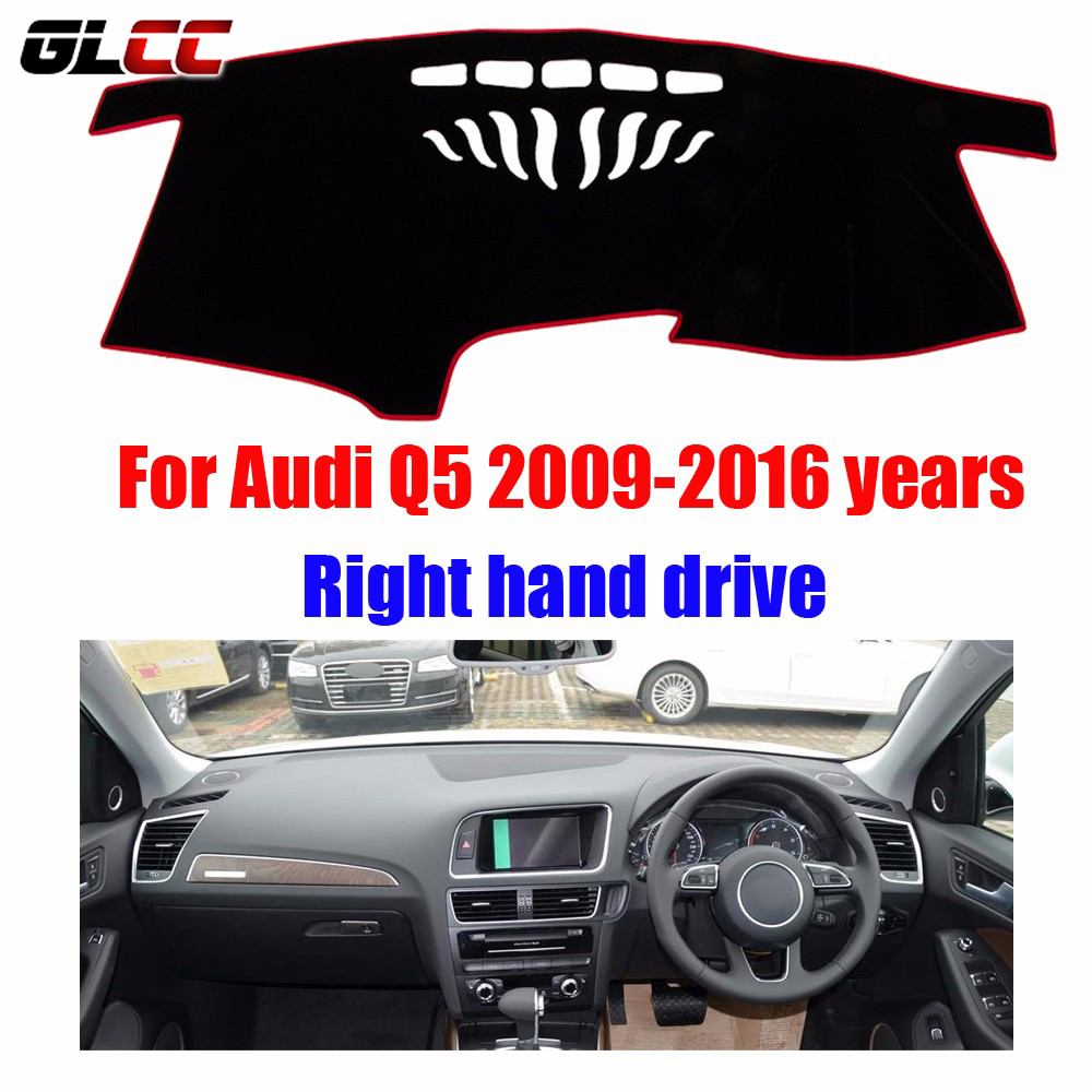 Car dashboard cover mat for Audi Q5 2009-2016 years Right hand drive dashmat pad dash covers auto dashboard accessories brand new car dashboard cover for audi tt dash cover mat right hand driver