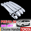 For Toyota Previa 50 2007 2017 Chrome Handle Cover Trim Set XR50 Estima Tarago 2009 2011