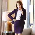 2016 fall and winter career suits Ms. long-sleeved dress big yards ol suit pants commute piece