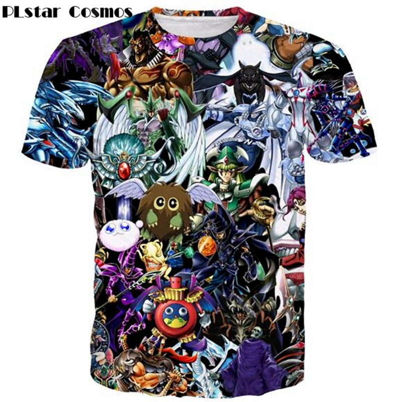 PLstar Cosmos Cute Anime t shirt YuGiOh Monster Tee Shirt Men Women 3D print t shirt Funny Duel Monsters Elf Harajuku Tee shirts