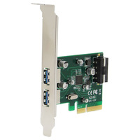 2 Ports 10Gbps USB3 1 Type A PCIe Express X4 Converter Adapter Controller Expansion Card LA31