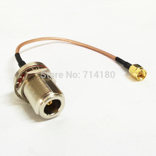 RF Pigtail Cable SMA Male Switch N Female Bulkhead RG316 For Wireless 15CM lots of 10pcs