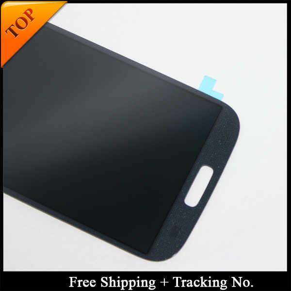 شحن مجاني تتبع رقم 100% اختبار شاشات LCD لسامسونج S4 I9500 LCD i9505 عرض LCD شاشة مجموعة رقمنة اللمس