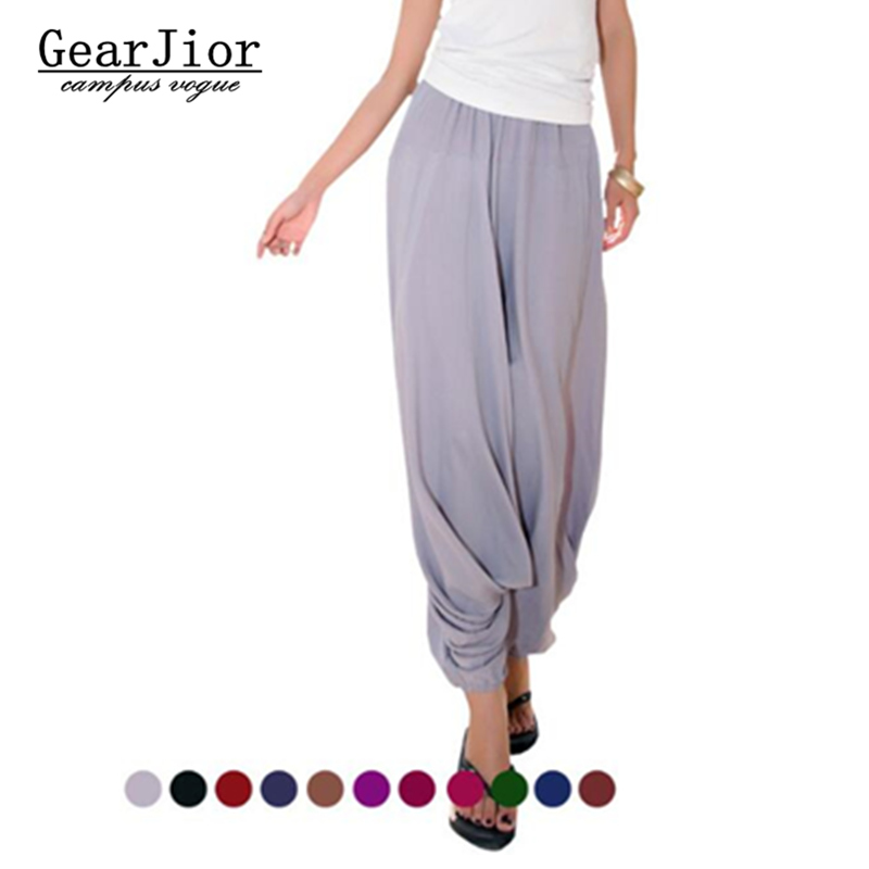 2018 men and women's Big crotch pants harem pants casual trousers bloomers radish skorts pant  meditation pants