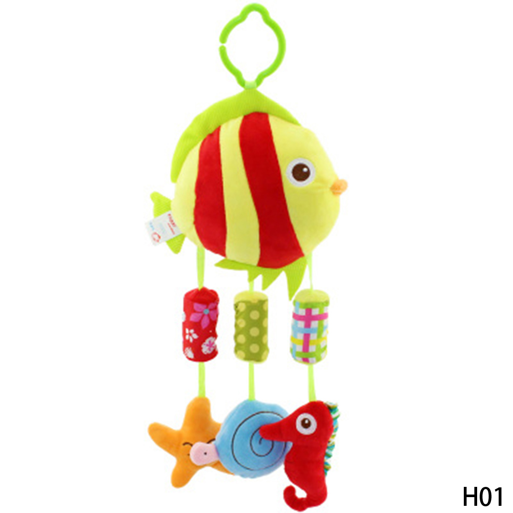 Happy Monkey Baby Plush Hanging Bells Baby Toy For Bed With 4 Wind Chimes For Baby Child