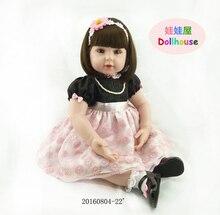 22 «poupées Reborn bébé-reborn fille doux corps silicone poupées meilleur enfants garçon de sommeil cadeau toys brinquedos bonecas