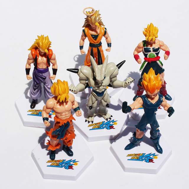 6Pcs 12cm Dragon Ball Z Super Saiyan Goku Vegeta Gotenks Buu