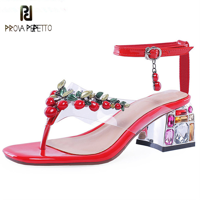 Prova Perfetto Crystal Sandals Genuine Leather Shoes Bead Party Wedding Shoes Woman Square Heels Sandals Gladiators Plus Size 46Prova Perfetto Crystal Sandals Genuine Leather Shoes Bead Party Wedding Shoes Woman Square Heels Sandals Gladiators Plus Size 46