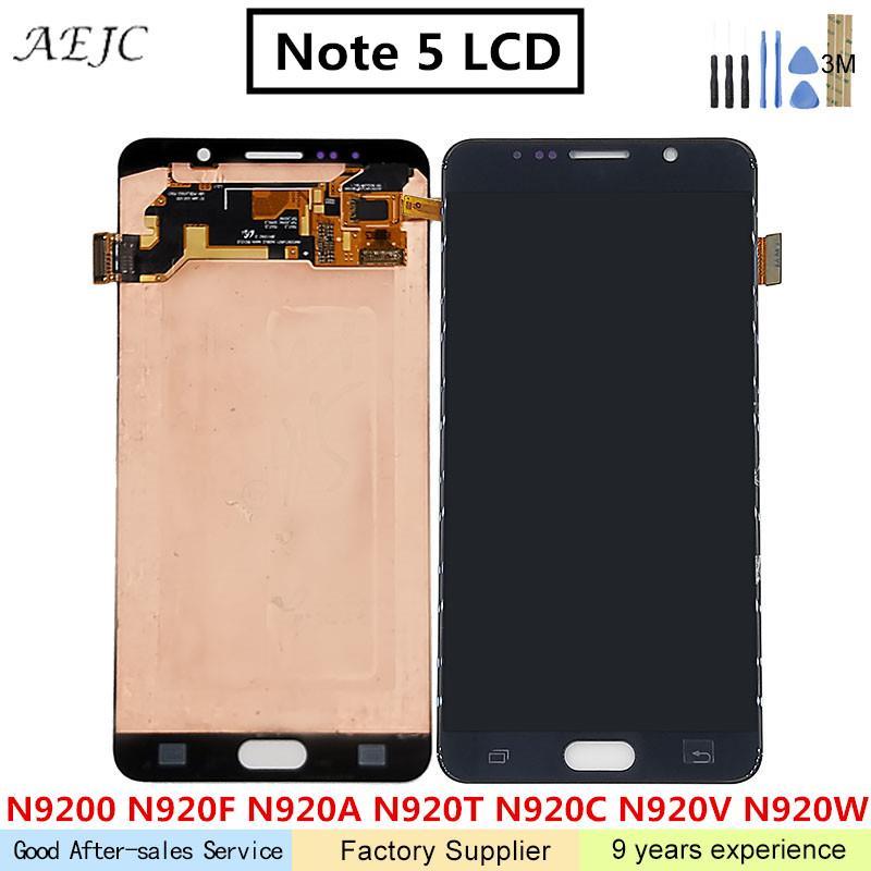 Super AMOLED ЖК дисплей для samsung Galaxy Note 5 Note5 N9200 N920T N920A N920I N920G ЖК дисплей Дисплей Сенсорный экран планшета сборки 5,7