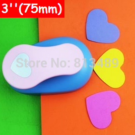 extra large paper punch 3'' 75mm heart furador paper punches for scrapbooking craft perfurador diy puncher cortador de eva3182 free ship paper punches for scrapbooking craft punch set paper cutter furador de eva embossing machine cortador sacabocados 571