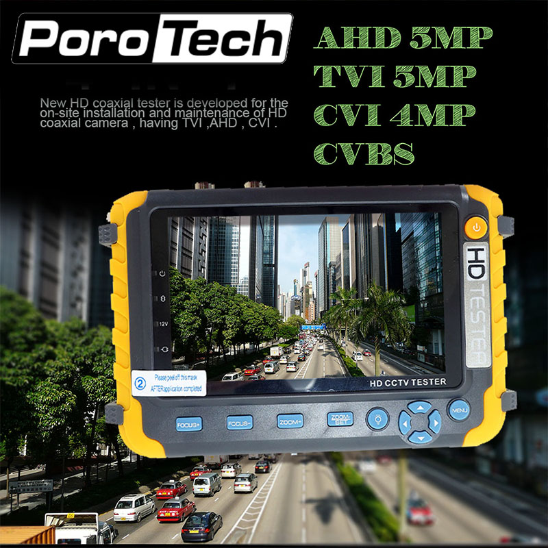 IV8W 5MP 4 IN 1 TVI AHD CVI Analog CCTV Camera Tester 5 Inch TFT LCD Build in Battery Security Tester Monitor Video Audio Test usb led gift grip and folding 4 3 inch tft lcd monitor 1080p 2mp ahd tvi analog surveillance cctv camera tester free shipping