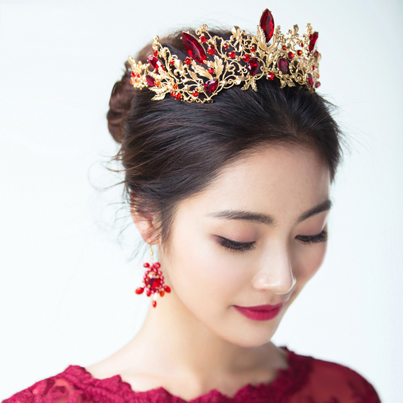 HIMSTORY Luxury Princess Queen Crown European Baroque Large Hair - Նորաձև զարդեր - Լուսանկար 2