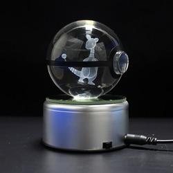 Upuszczając Ampharos Design figurki Crystal Poke Ball 3D Pokemon miniatury Graduation świąteczne prezenty|Posągi i rzeźby|   -