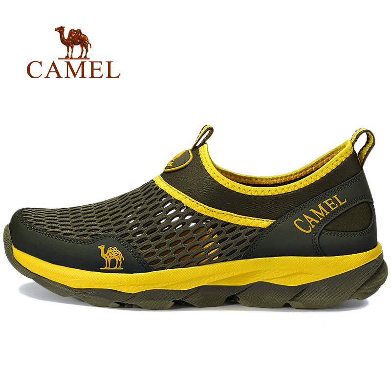 CAMEL 2018 New Summer Comfortable Lightweight Outdoor Sports Walking Shoes For Men Hollow Breathable Mesh Jogging Sneakers Men camel men summer air mesh outdoor hiking shoes breathable shock absorption lightweight walking climbing excursion sneakers