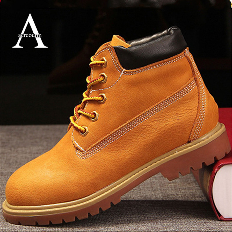 ФОТО Aercourm A Winter Girls Shoes Kids Genuine Leather Martin Boots Boys High Quality Lace-Up Kids Boots Autumn Girls Boots