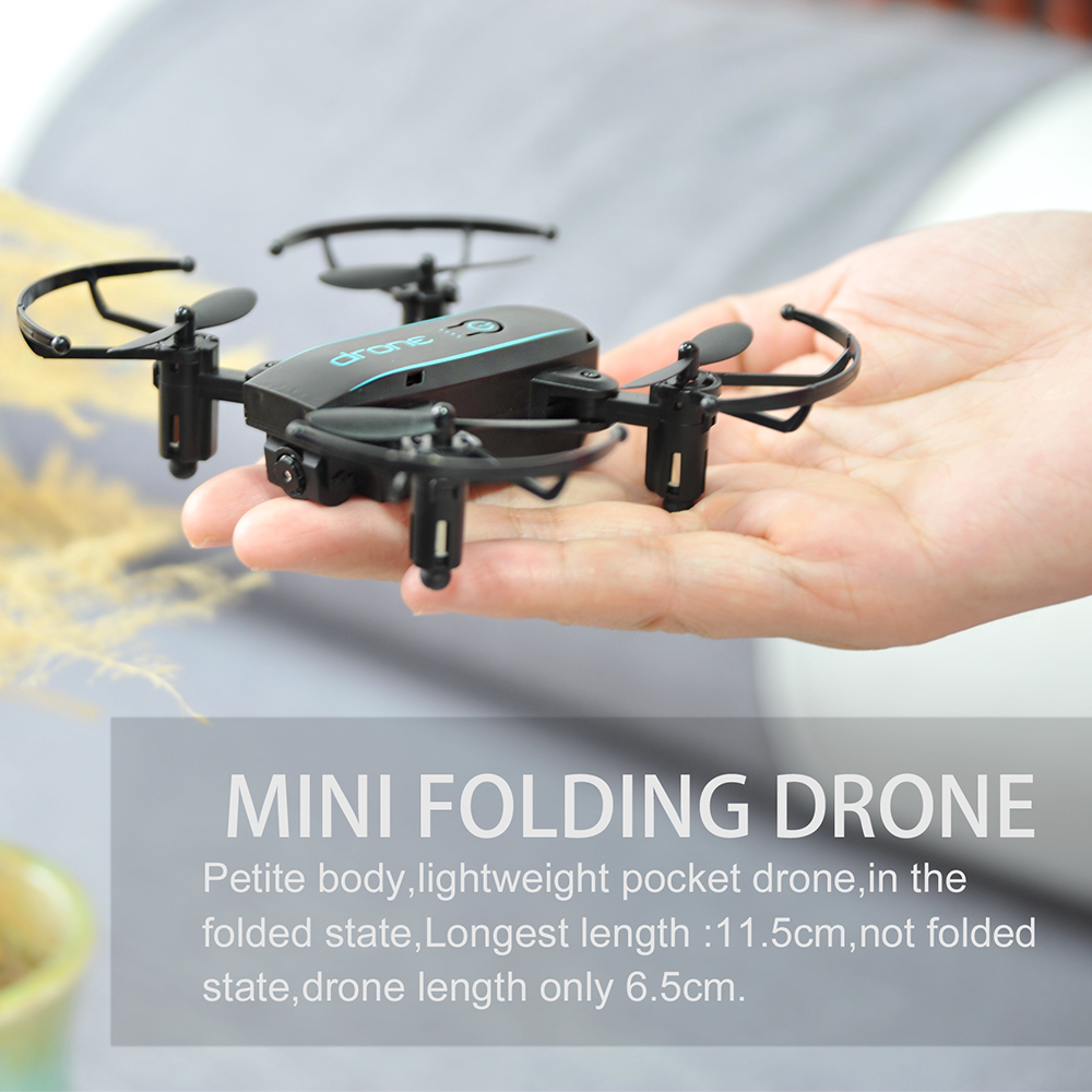 New Arrival IN1601 2.4G 720P 0.3MP Wifi FPV Foldable Mini Drone With Camera Altitude Hold RC Drone Quadcopter Selfie Drone Gifts (12)