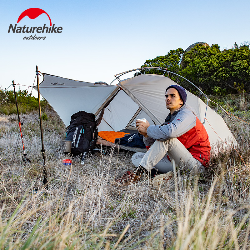 Naturehike VIK Serie Outdoor single tent ultra light 0.93kg 15D nylon camping hiking snow rainproof portable aluminum tent - 5