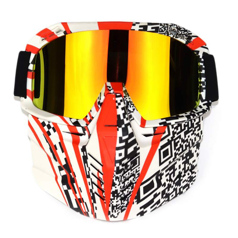 Ski Snowboard Snowmobile Goggles Snow Winter Windproof Skiing Glasses Motocross Sunglasses With Nose Protection And Face Mask