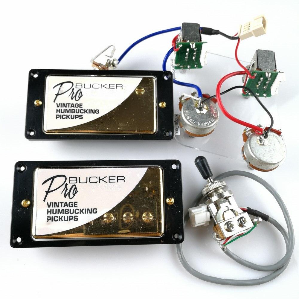 1 set LP Standard ProBucker Alnico Guitare Électrique Humbucker Micros avec Pro Faisceau De Câblage Pour EPI Or Couverture