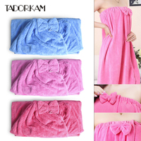 1pc Bath Towels Women Girl Bathrobe Spa Body Wrap Towel 80 140cm Absorbent Bathroom Soft Skirt