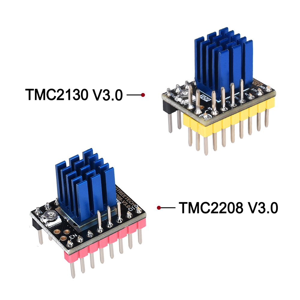 BIGTREETECH TMC2130 V3.0 Драйвер шагового двигателя SPI TMC2208 UART драйвер 3d принтер запчасти для SKR V1.3 PRO MKS GEN L A4988 TMC2209