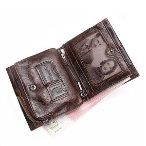 Image 2 - CONTACTS portefeuille homme en cuir véritable hommes portefeuilles marque de luxe porte carte mode porte monnaie organisateur petits portefeuilles hommes Walet