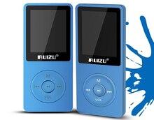 2017 Nuevos Llegan Ultrafino 4 gb MP3 Player 1.8 Pulgadas de Pantalla Puede Jugar 80 horas, Original RUIZU X02 Con FM, E-libro, Reloj, de Datos (Azul)