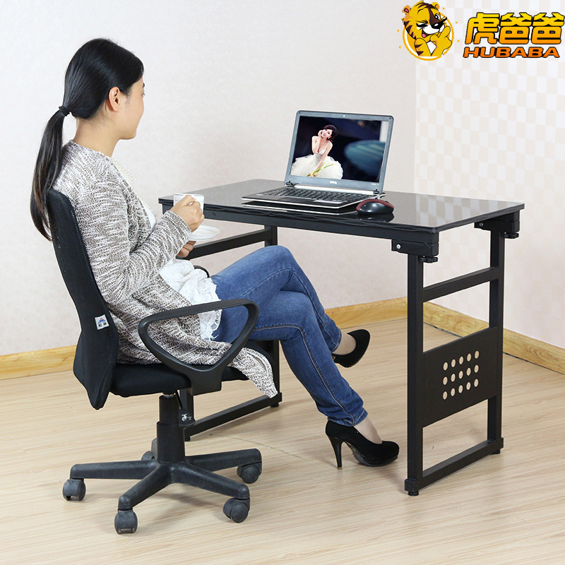New Factory Direct Desktop Computer Desk Laptop Table Folding Simple One Machine Home Office In Desks From Furniture On Aliexpress