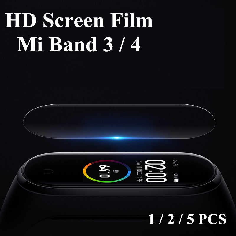 Mi band 4 3 מסך מגן סרט מגן 5 pcs 2 pcs 1 pc עבור שיאו mi mi band 4 3 אנטי שריטה mi band4 צמיד mi band 4