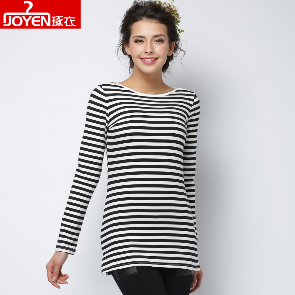 2016 new fashion t shirt women clothing sexy tops tee clothes blusas long sleeve striped print o. Black Bedroom Furniture Sets. Home Design Ideas
