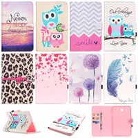 For Samsung Galaxy Tab E 9 6 T560 SM T560 Fashion PU Leather Flip Case For