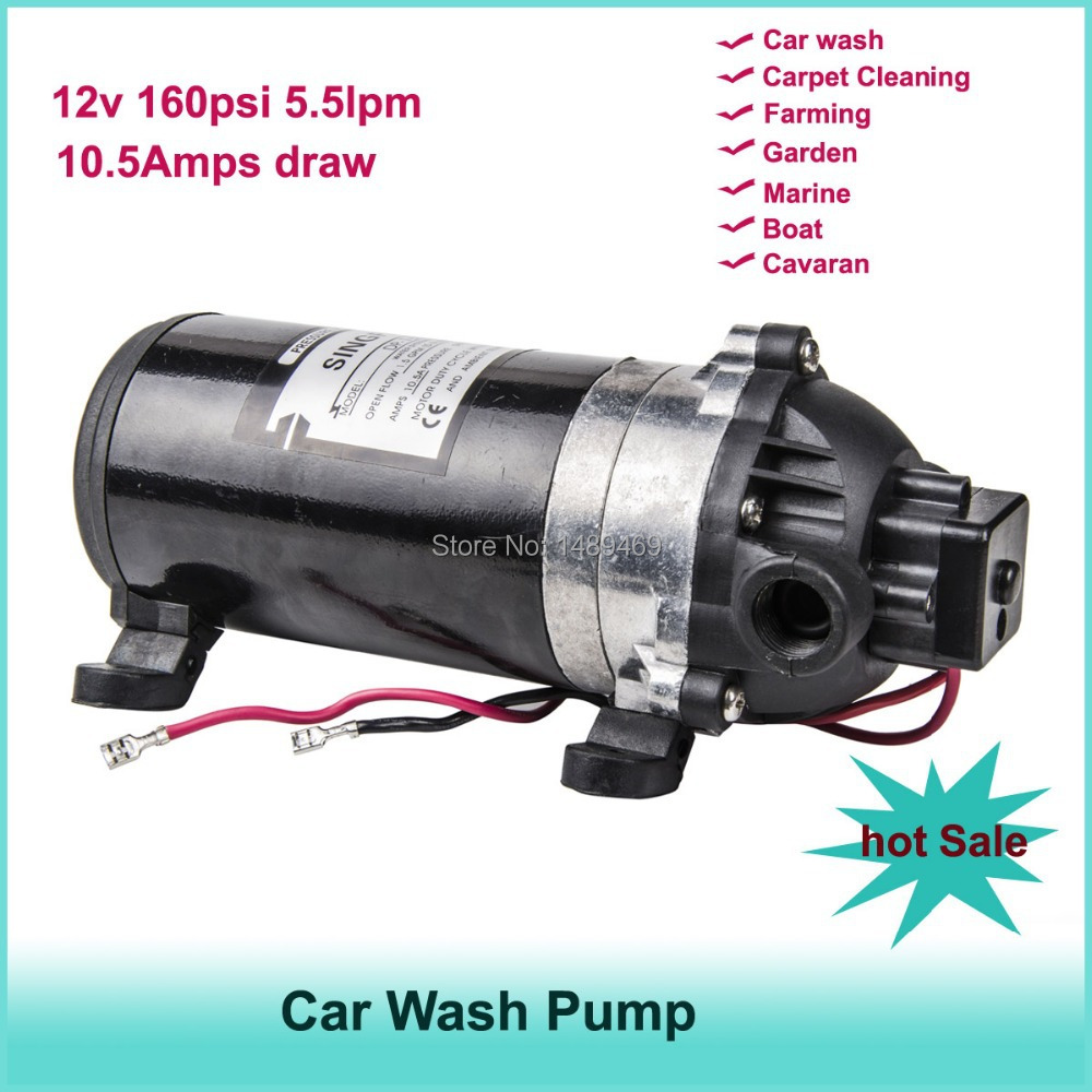 12V DC Diaphragm water pump 5.5LPM 160PSI Garden Marine Boat Caravan motor for car wash pump dc 12v 80w high pressure diaphragm water pump electric water pump for boat caravan marine motor water pumps