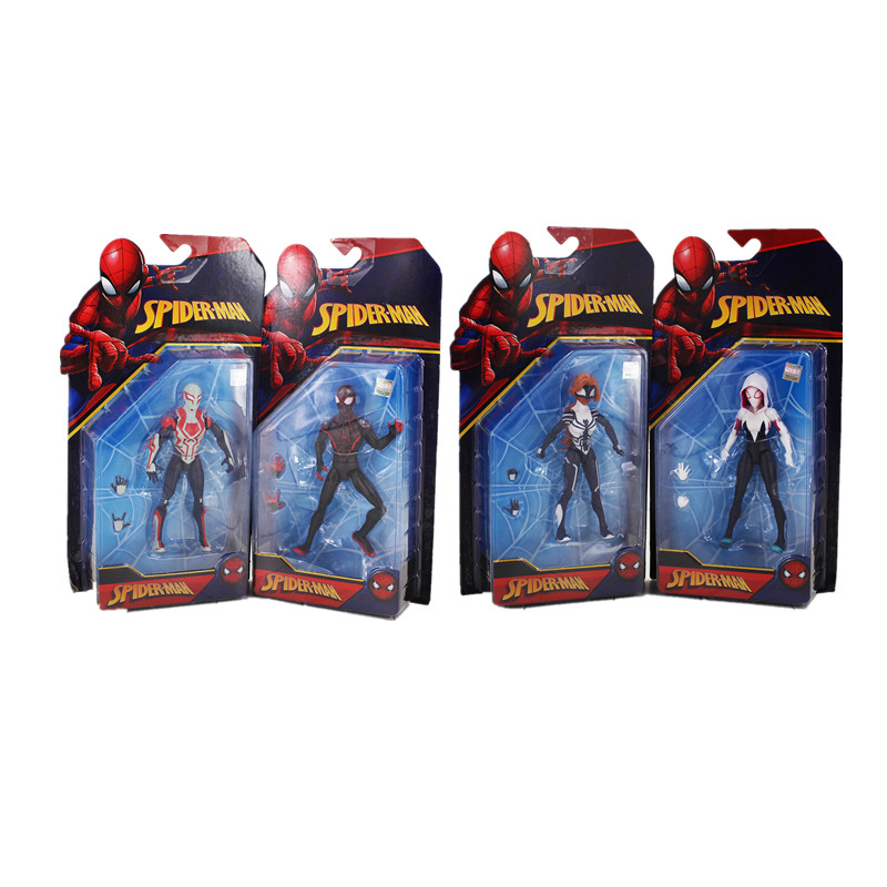 4pcs/lot 16.5cm Spider Woman Gwen Stacy Figure Model Toy SpiderMan SpiderWoman Homecoming superheroes Spider Man cool hot Model
