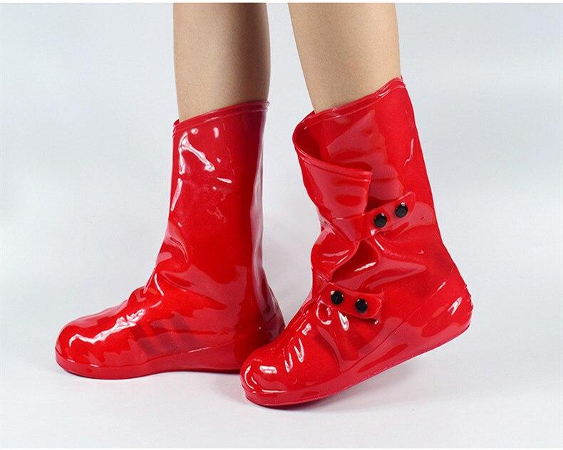 High heels flat shoesRain Shoe Cover Overshoes rain boots Slip Waterproof Raincoat High-Top