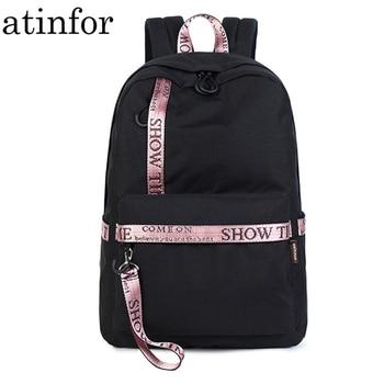 20d9484bc768 Product Offer. Непромокаемые повседневные женский рюкзак для путешествий с  буквенным принтом рюкзаки для любителей школьная сумка ...