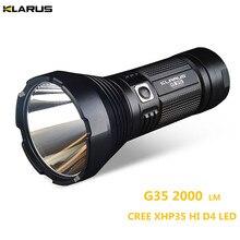 Супер факел KLARUS G35 XHP35 HI D4 LED 2000LM дальность луча до 1000 метров поиск свет охота