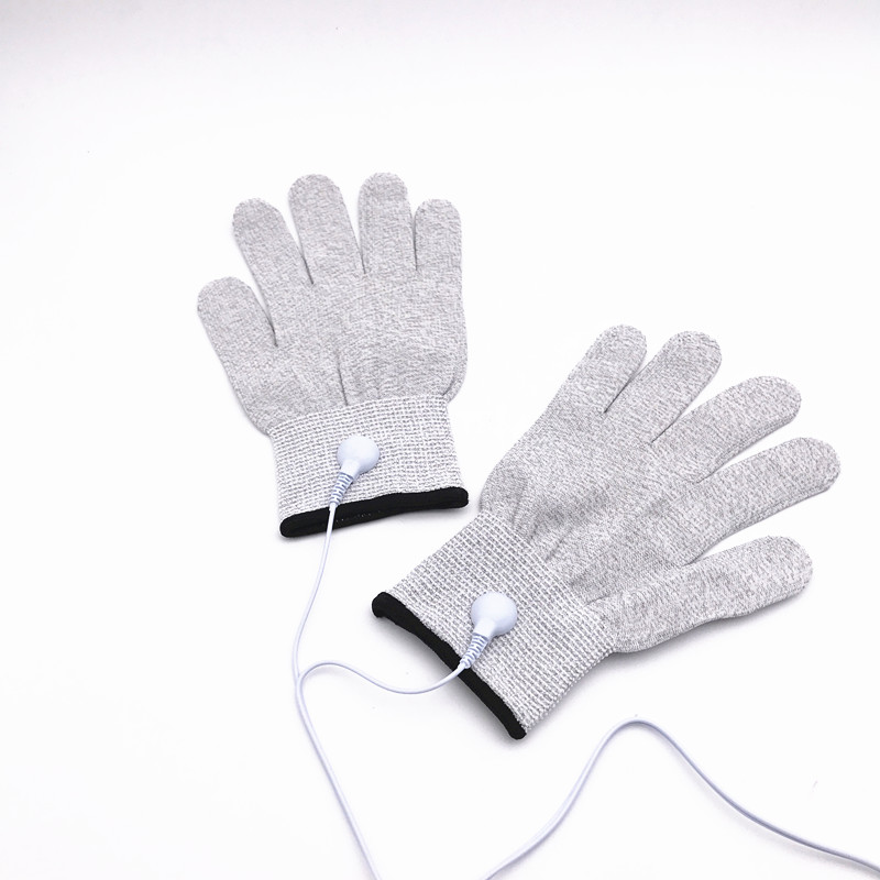 Anti-static Anti-skid breathable fiber hand electrotherapy massage conductive electrode gloves for tens therapy massager machine carbon fiber antistatic brush remove static electricity 1460x1400mm