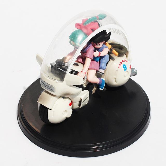 Dragon Ball Z Goku y Bulma en Motocicleta Figura Coleccionable
