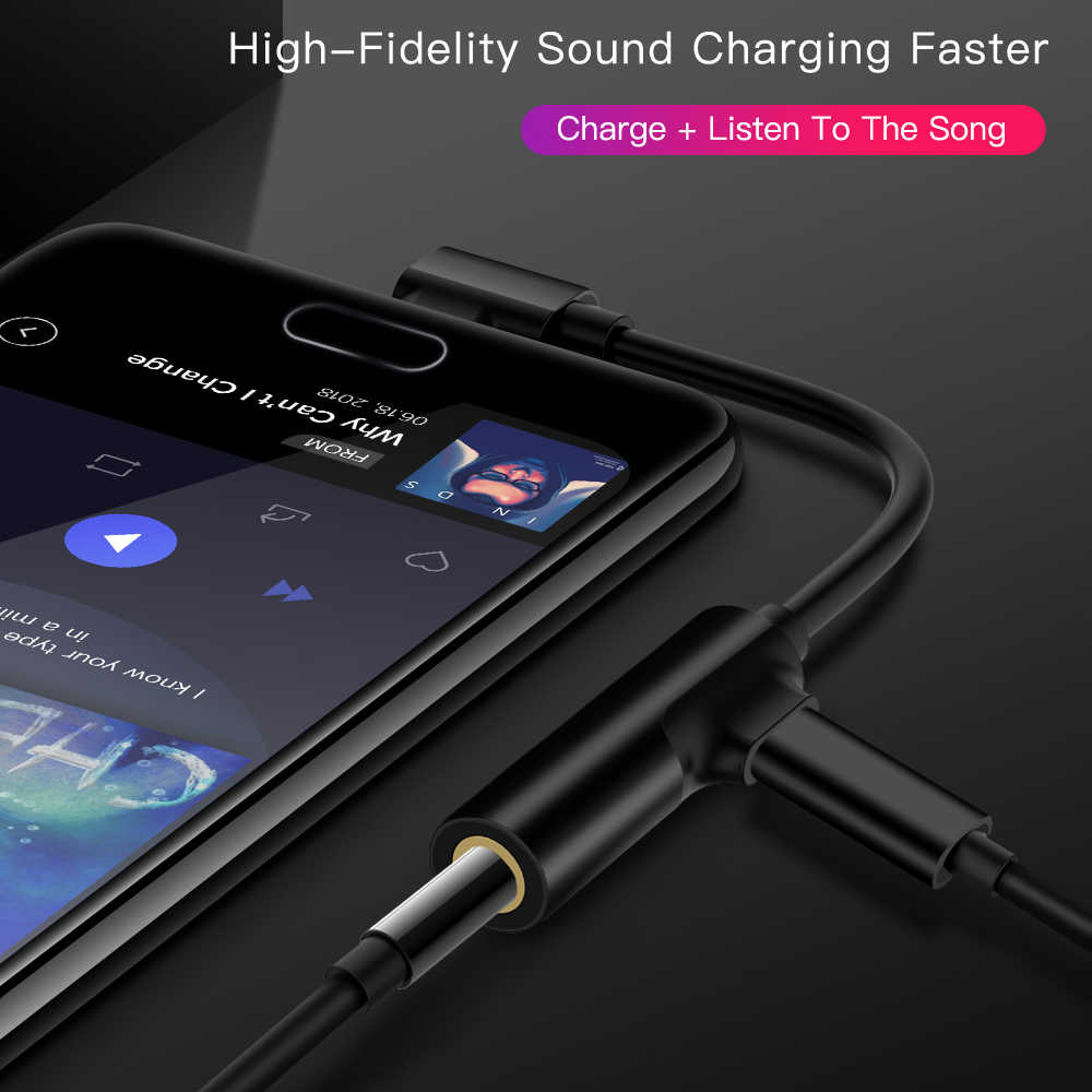 Cabo usb tipo c para 3.5mm, adaptador usb tipo c de fone de ouvido para entrada aux 3.5mm para xiaomi mi6 mix2 huawei