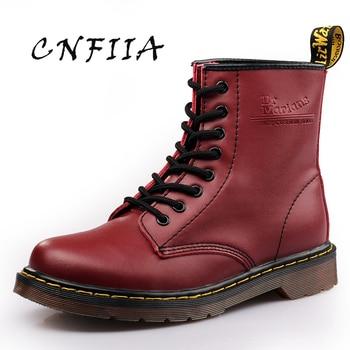 CNFIIA/мужские ботинки, кожаные ботинки Martens, большой размер 45, Нескользящие удобные, красные, черные, коричневые, Трекинговые ботинки, мужская ...