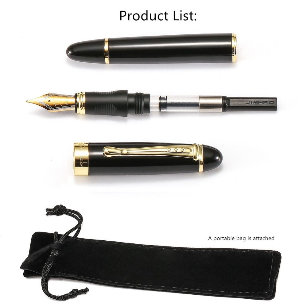 Luxury Fountain pen Medium nib ink pens for writing business gift Stationery Caneta tinteiro Office student school supplies F293 in Fountain Pens from Office School Supplies