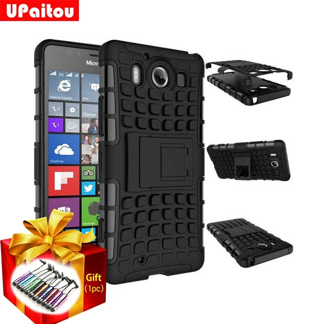 UPaitou Heavy Duty Armor Case For Microsoft Lumia 435 535 540 630 635 640 650 830 850 950 XL 640XL 950XL Dual Sim Back Cover