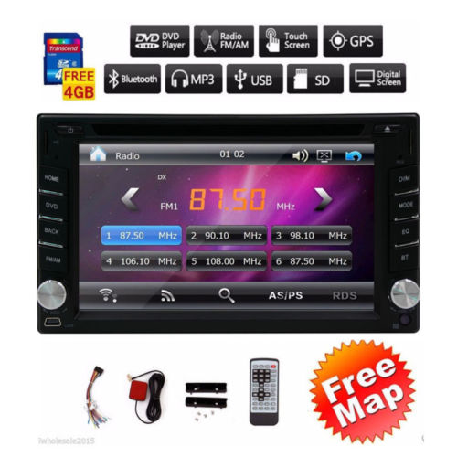 Eincar Double din in dash 6.2'' 2 Din car dvd player with GPS Navigation 8GB MAP Car radio Bluetooth Wince 6.0 car audio stereo joyous j 8619mx 6 2 toyota double din car radio dvd player w gps bluetooth aux