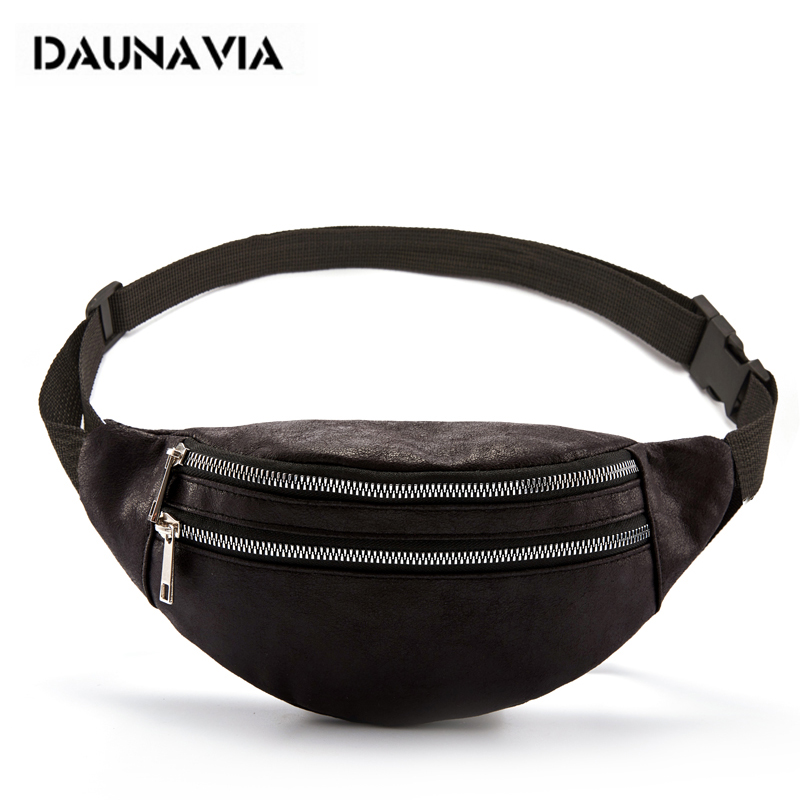 DAUNAVIA Waist Bag Lady Fashion Designer Belt Chest Bags Women's Bag Luxury Leather Belt Bag Waist Pack For Women Phone Pouch
